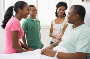 Le soutien des enfants à leur père hospitalisé